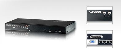 Aten Altusen 8 Port Rackmount USB-PS/2 Cat5 KVM Switch with Daisy Chain [KH1508]